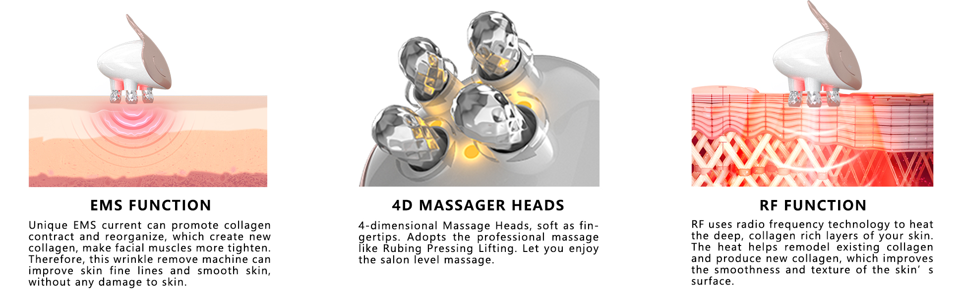 facial massager RF & EMS