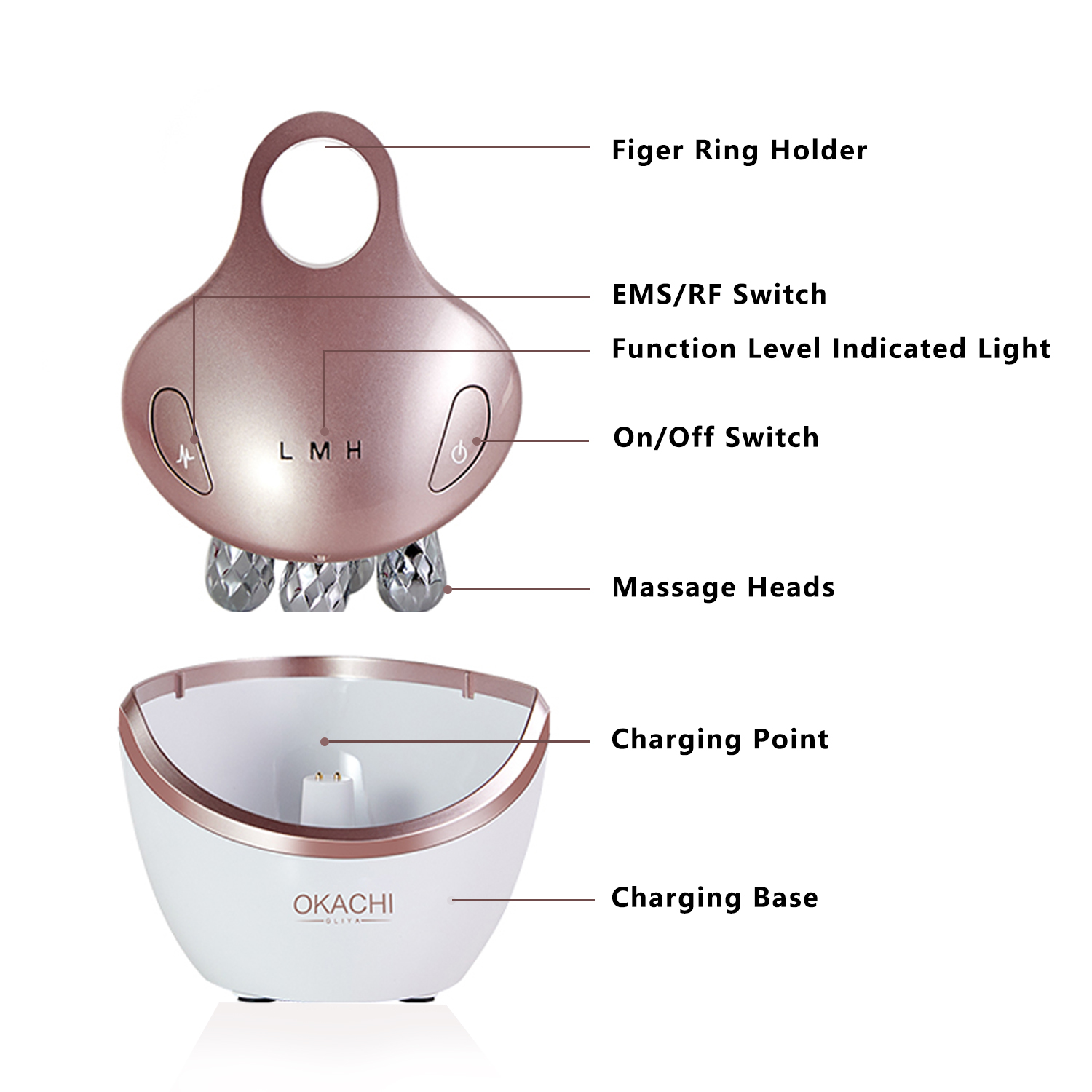 3. detail of the facial massager